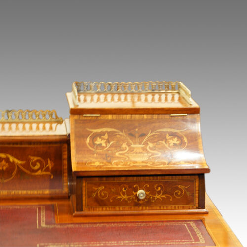 Edwardian inlaid mahogany writing desk gallery