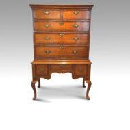 George II oak chest on stand