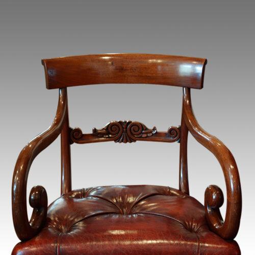 Antique arm-chair back view