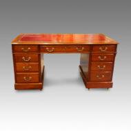 Edwardian mahogany double pedestal desk