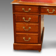 Edwardian mahogany double pedestal desk drawers