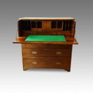 Regency camphorwood secretaire military chest desk