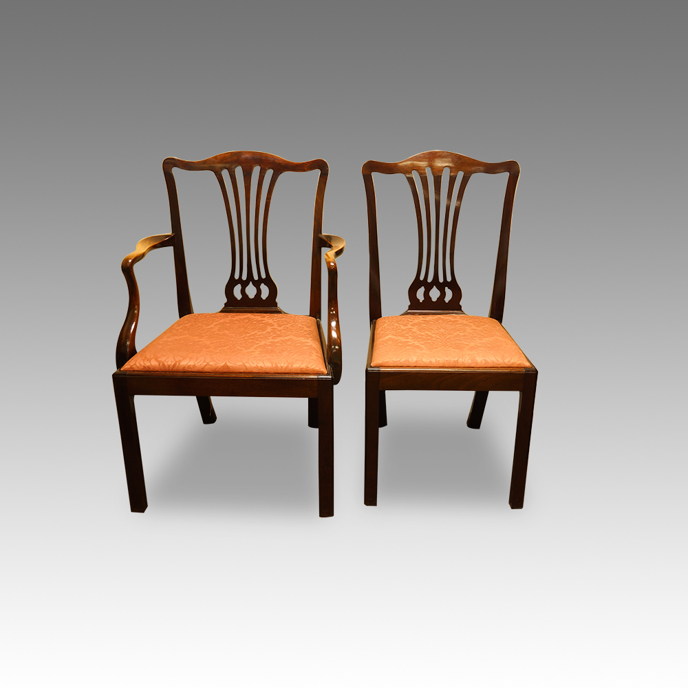 Set of 12 mahogany Georgian style dining chairs Now Sold