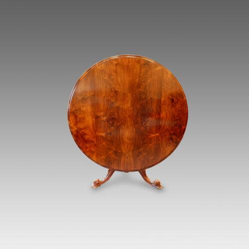 Victorian rosewood circular dining table