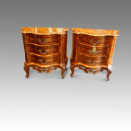 Pair of Antique serpentine bedside cabinets