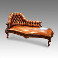 Victorian rosewood chaise lounge