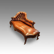 Victorian leather chaise lounge