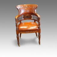 Victorian walnut desk armchair