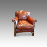 Pair of Edwardian club chairs