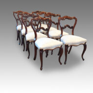 Set of 8 Victorian rosewood cabriole leg chairs