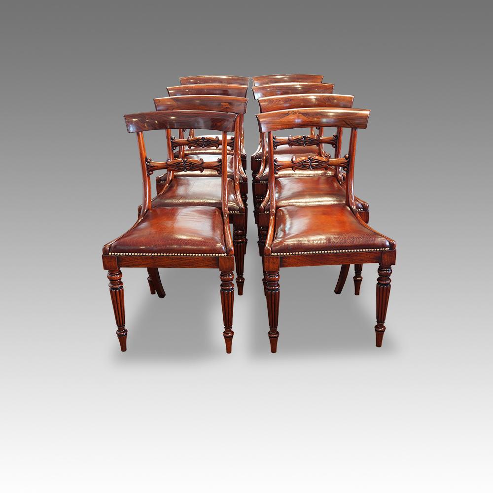 William Iv Dining Chairs Set Of Five William Iv Rosewood  : Set of 8 William IV rosewood dining chairs from artofarchitect.com size 1000 x 1000 jpeg 354kB