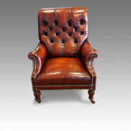 Victorian Jas. Shoolbread leather reading chair