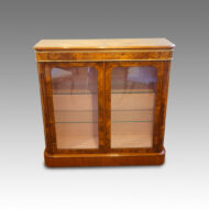 Victorian inlaid walnut 2 door pier cabinet