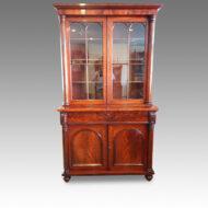 William IV mahogany chiffonier bookcase