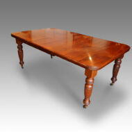 Edwardian walnut 8 seat dining table