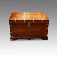 Victorian brass bound campaign chest