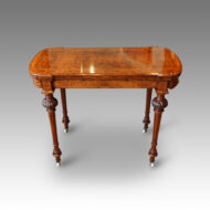 Victorian inlaid walnut cardtable
