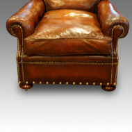 Edwardian leather chair