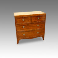Regency mahogany chest of drawers