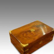Victorian mahogany writing slope top