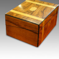 Victorian walnut writing slope end