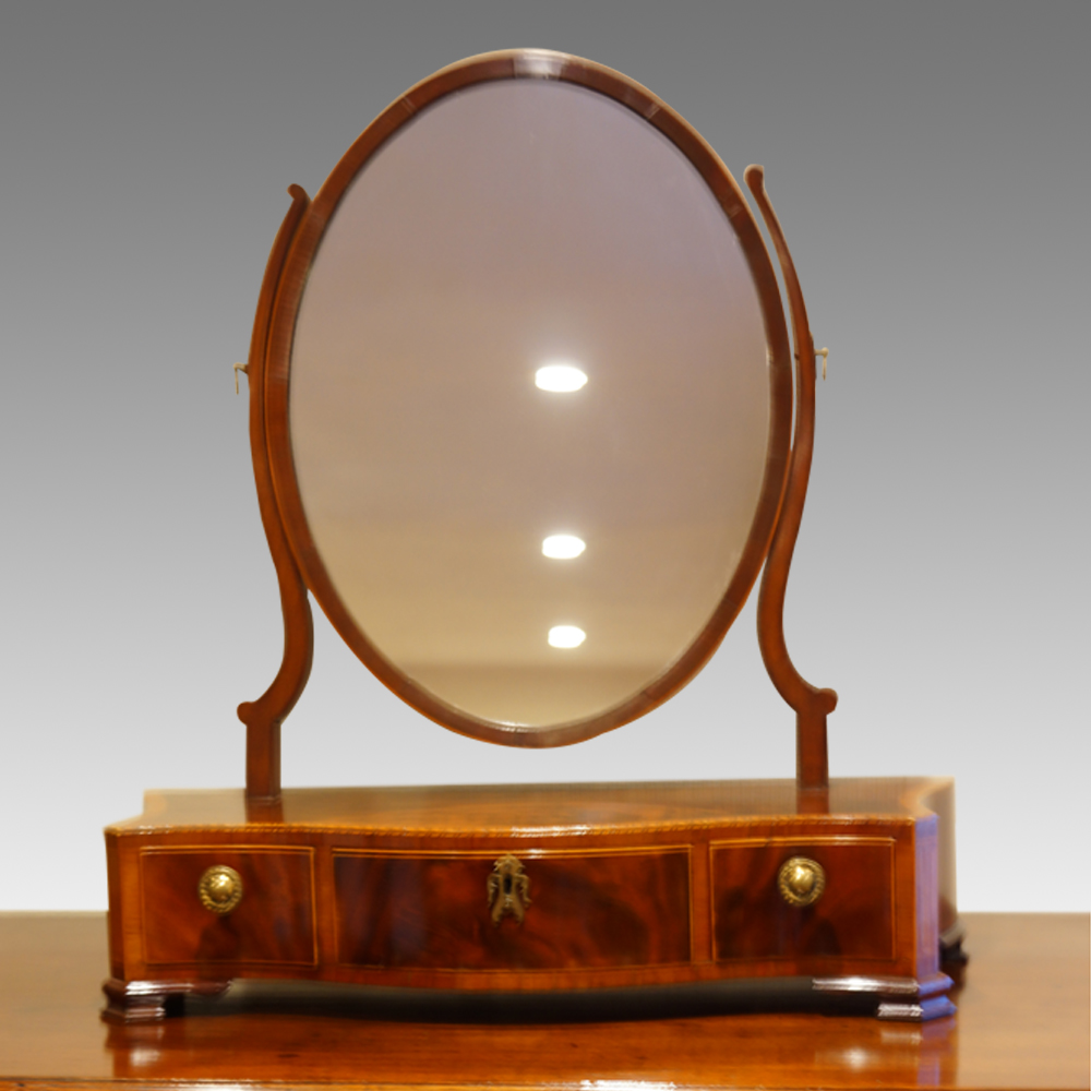 Antique Inlaid Mahogany Dressing Table Mirror Now Sold