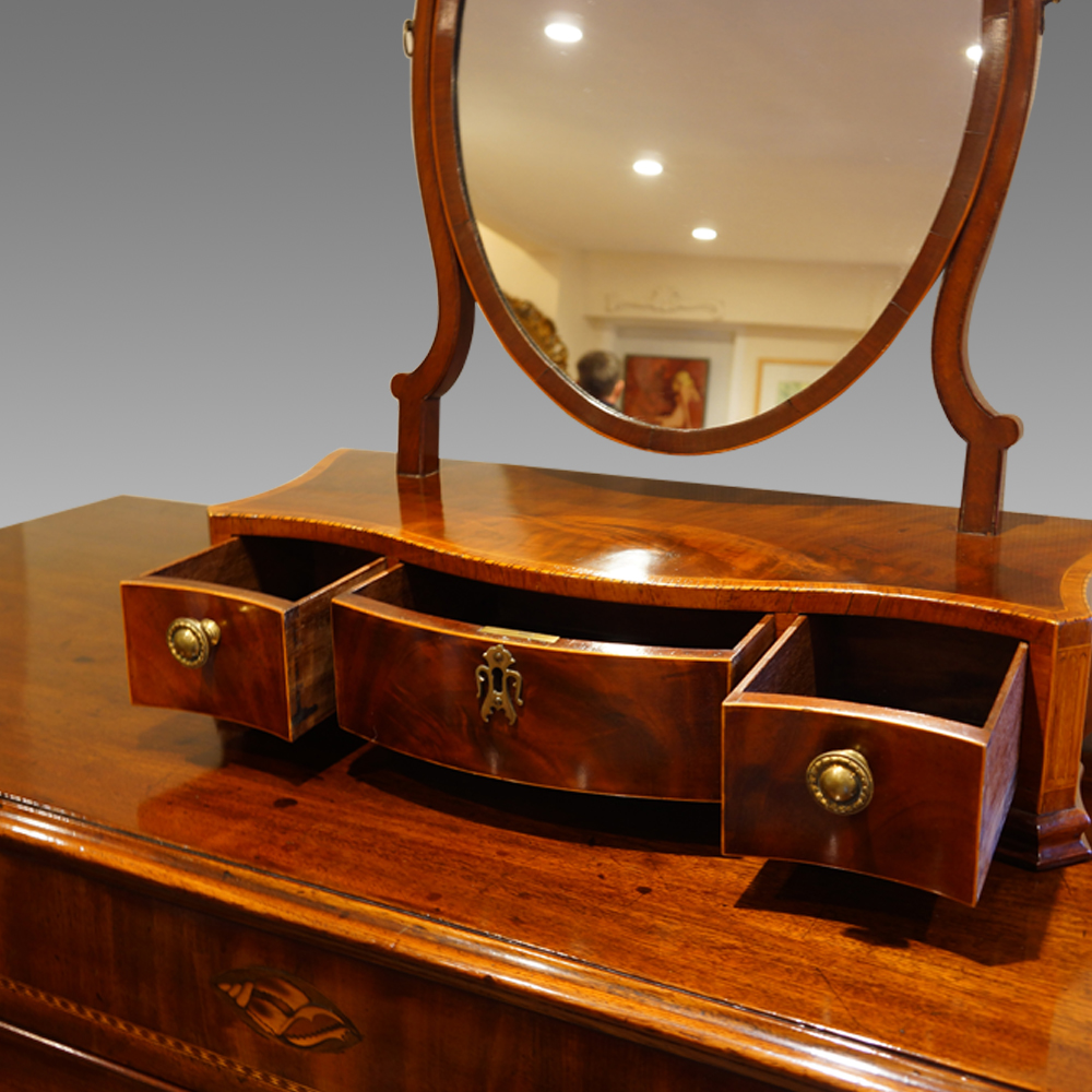 Antique dressing table with mirror - Antique Inlaid Mahogany Dressing Table Mirror Now Sold Hingstons Antiques Dealers