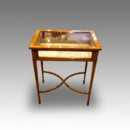 Edwardian inlaid mahogany curio cabinet
