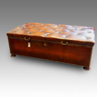 Victorian large leather coffee table Ottoman