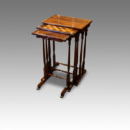 William IV rosewood nest of tables