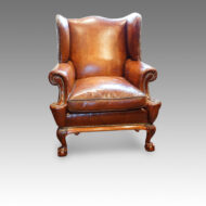 Leather wing chair 1920's