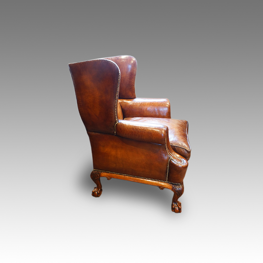 Leather Wing Chair 1920 S Hingstons Antiques Dealers