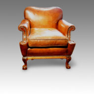 Leather 1920's easy chair