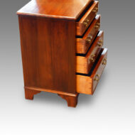 Mahogany bedside chest drawers