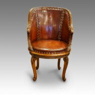 Antique tub desk chair
