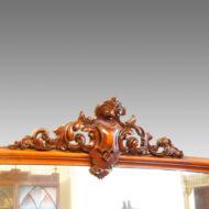 Victorian mahogany carving