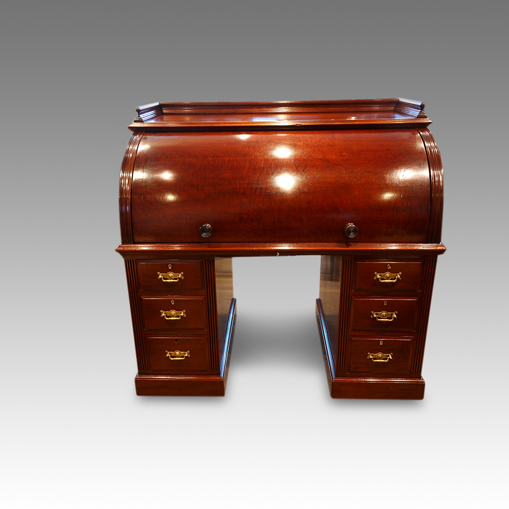 - Victorian Mahogany Cylinder Desk Now Sold - Hingstons Antiques Dealers