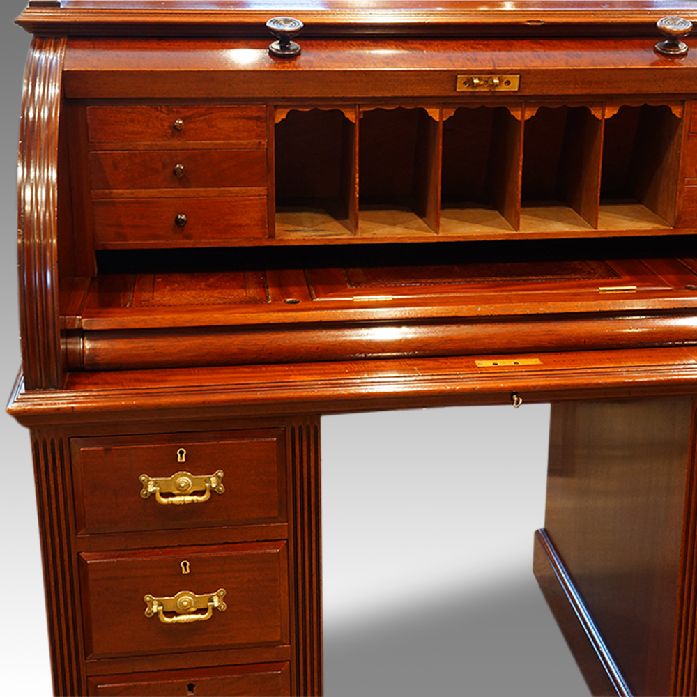 - Victorian Mahogany Cylinder Desk Now Sold Hingstons Antiques Dealers