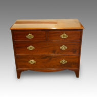 19thc mahogany chest of drawers