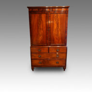 Antique mahogany linen press