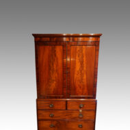 Antique mahogany linen press top section