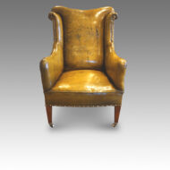 Edwardian leather reading easy chair