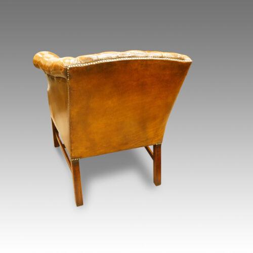 Georgian style library chair rear