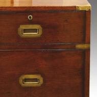 Victorian mahogany military chest,2