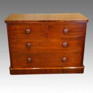 Victorian mahogany round cornered chest