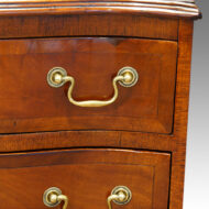 1920's small mahogany serpentine bedside chest,1