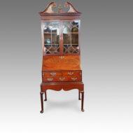 19thc.small mahogany bureau bookcase
