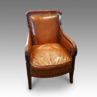 French mahogany Empire library chair