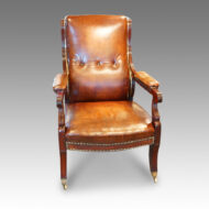 Regency mahogany library chair