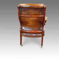 Antique library chair rear